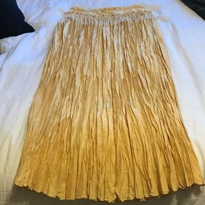 Elie Tahari Long Gold Skirt, NWT